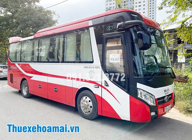 Thuê xe ô tô 35 chỗ tại Hà Nội xe sạch khử khuẩn, lái xe an toàn